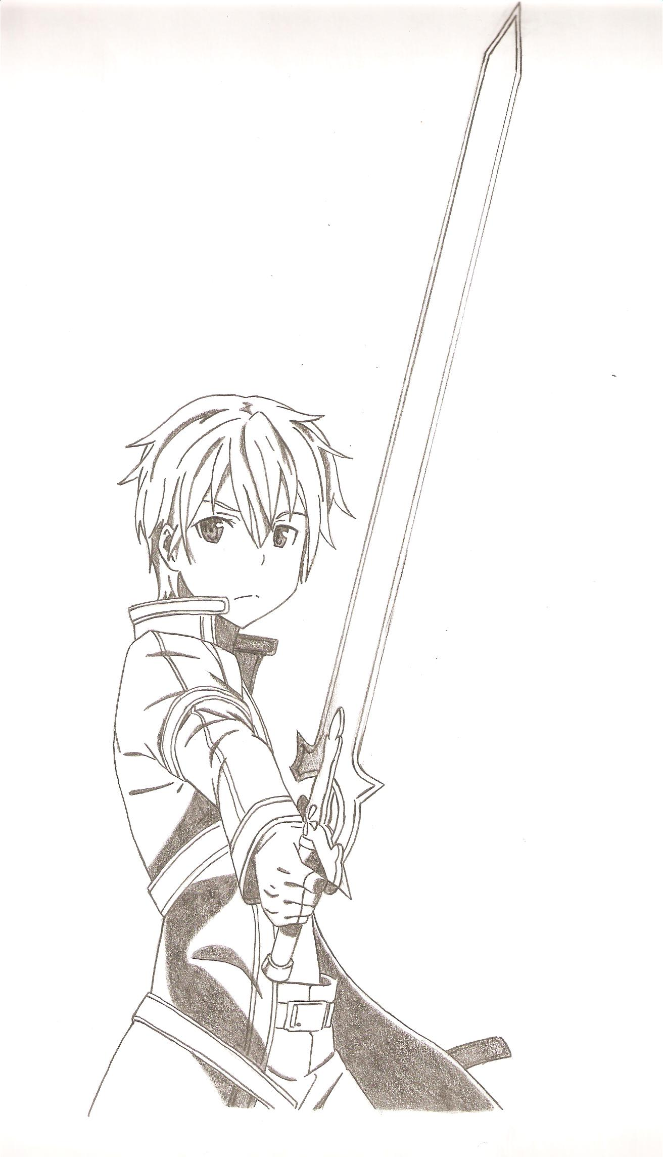 Sao swords drawing images galleries for Draw online