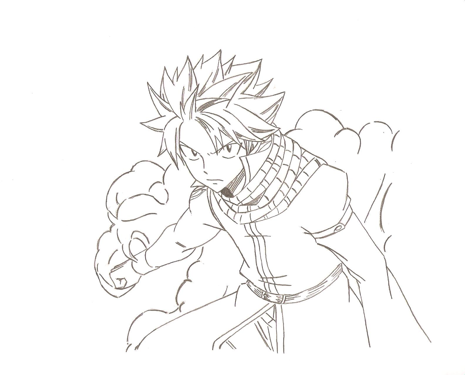 It is a photo of Superb natsu coloring pages