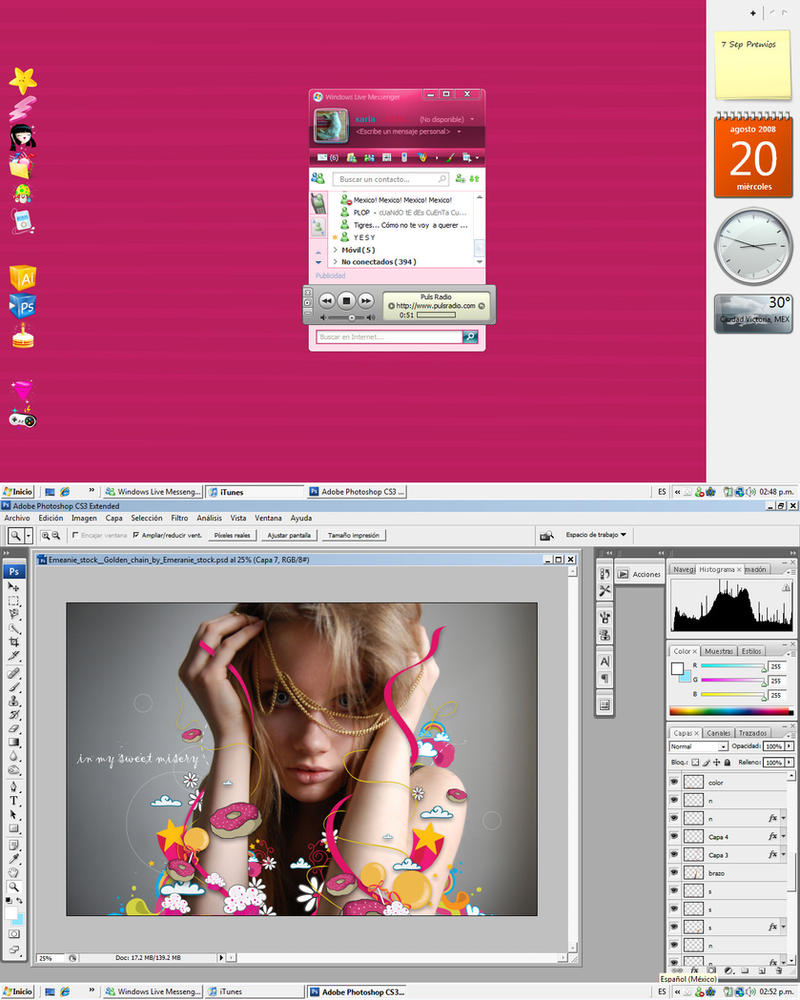 Mi desktop de agostoooo by 00Velvet00Dreams00