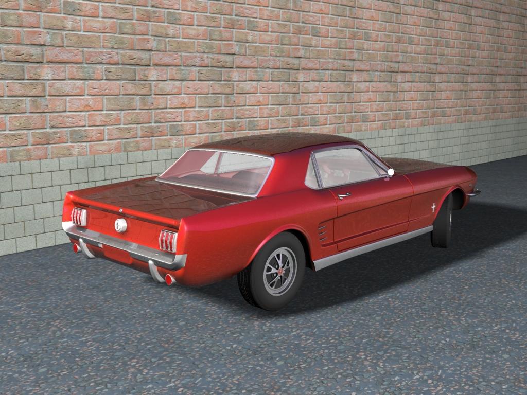car pertamax ford mustang 1966 coupe back 2. Black Bedroom Furniture Sets. Home Design Ideas