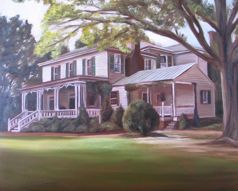Custom Portrait Oil Painting Farm House By Missysart