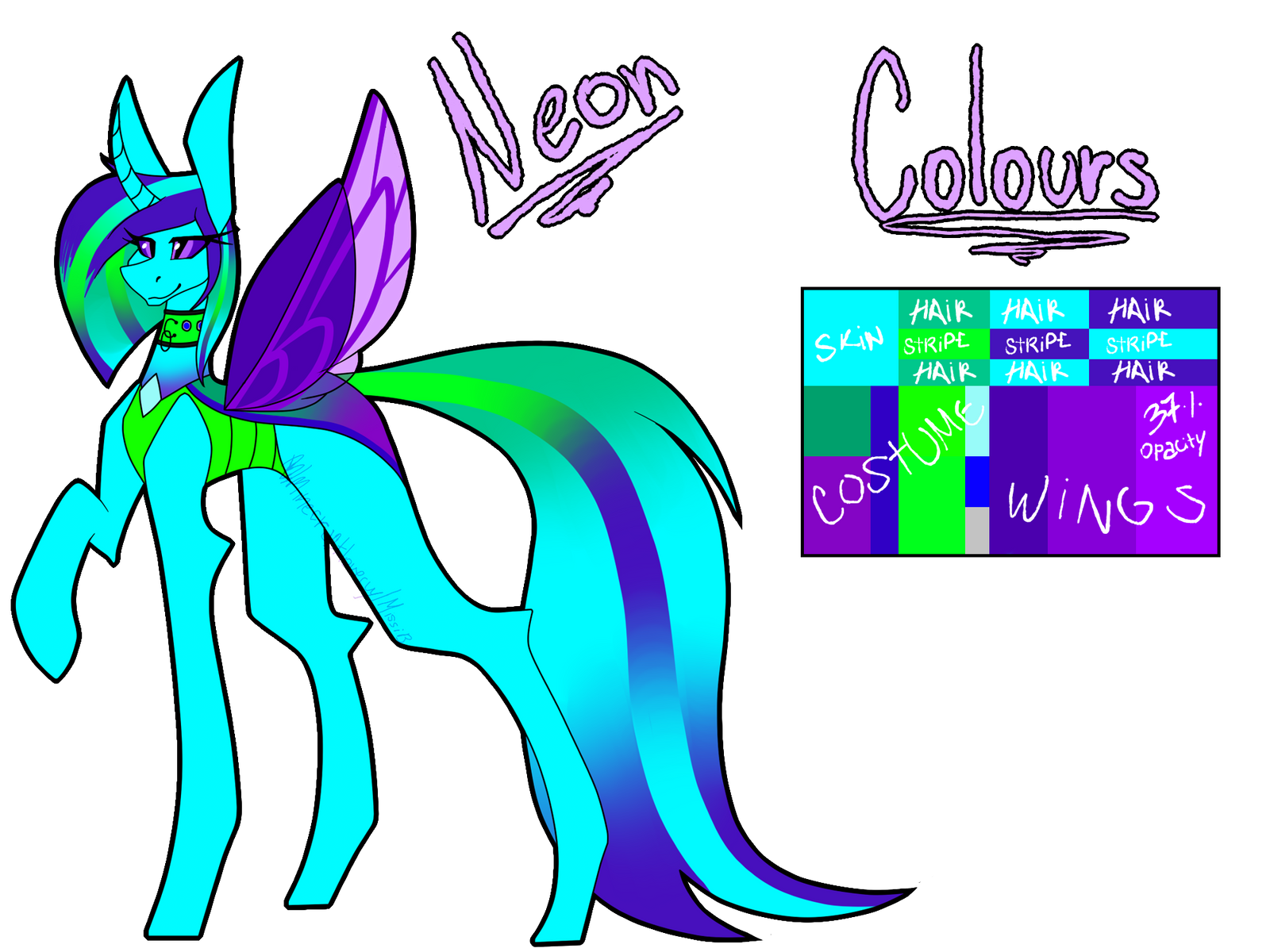 Neon Ref (Commission) by Missi-B