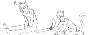 Tail Grab Line Art