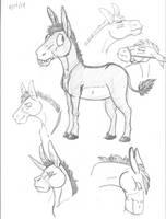 Donkeys by Lykaios-Garou