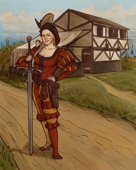 Girl landsknecht