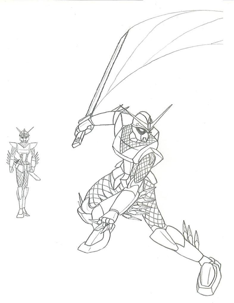 Kunoichi Gundam 01 by Caladbolgsama