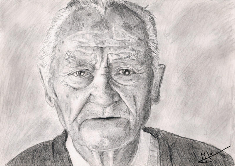 old mans face drawing - photo #35