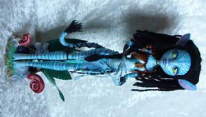 OOAK custom Monster High Neytiri from Avatar by redmermaidwerewolf