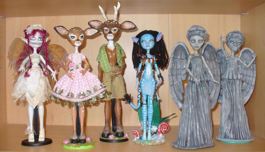 Monster High repaint OOAK customs by redmermaidwerewolf