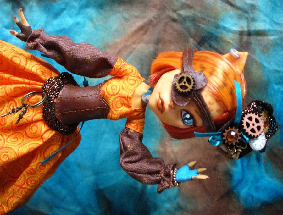 Monster High custom Steampunk Toralei by redmermaidwerewolf