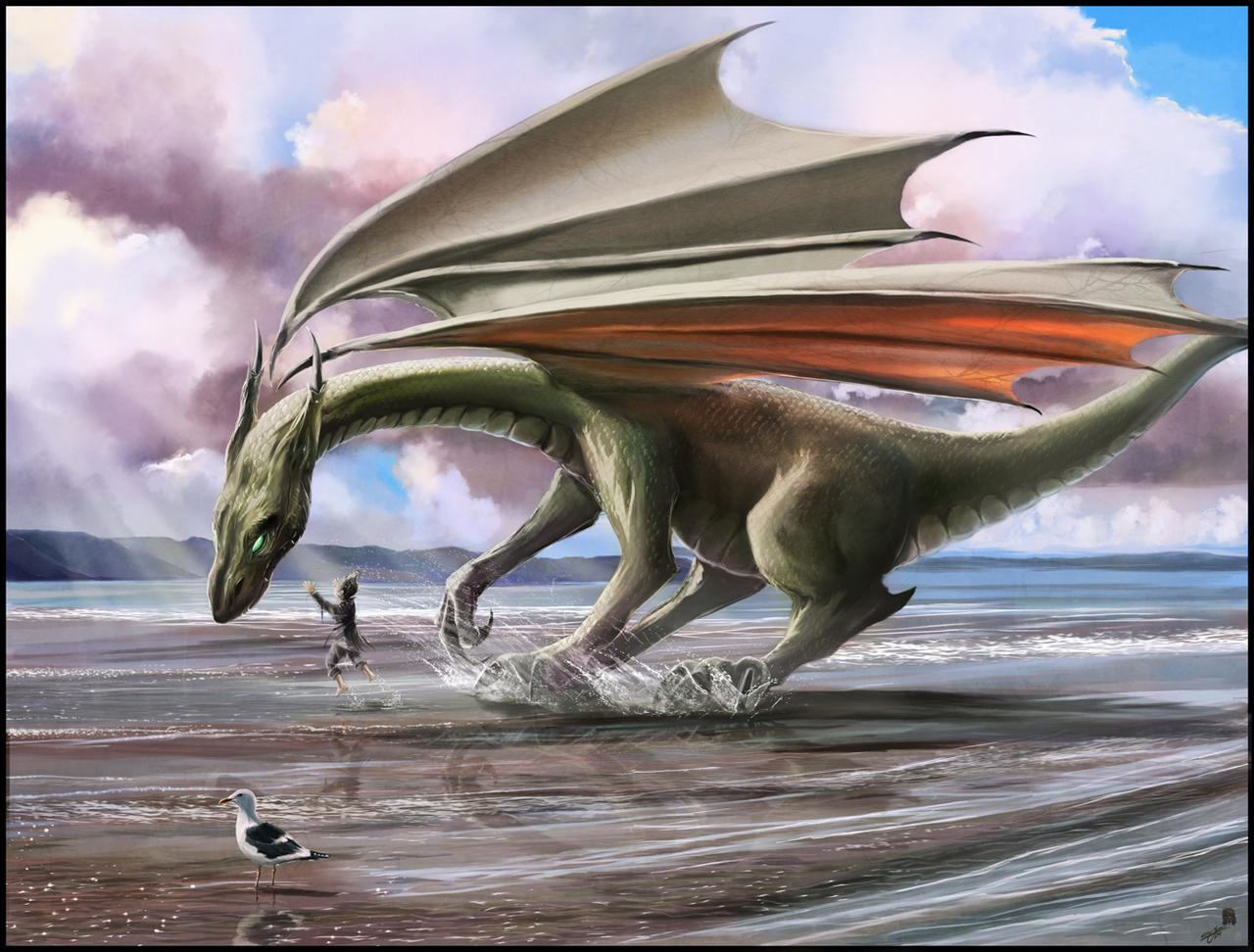Elegna VS Xandrya [dragon/Crow] The_Splashing_Dragon_by_wildlifehoodoo