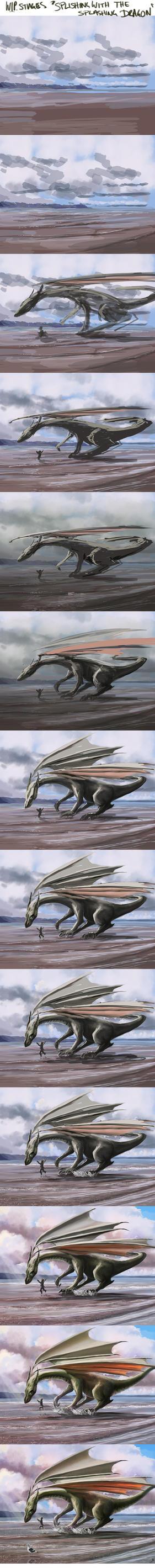 The Splashing Dragon WIP by AndyFairhurst