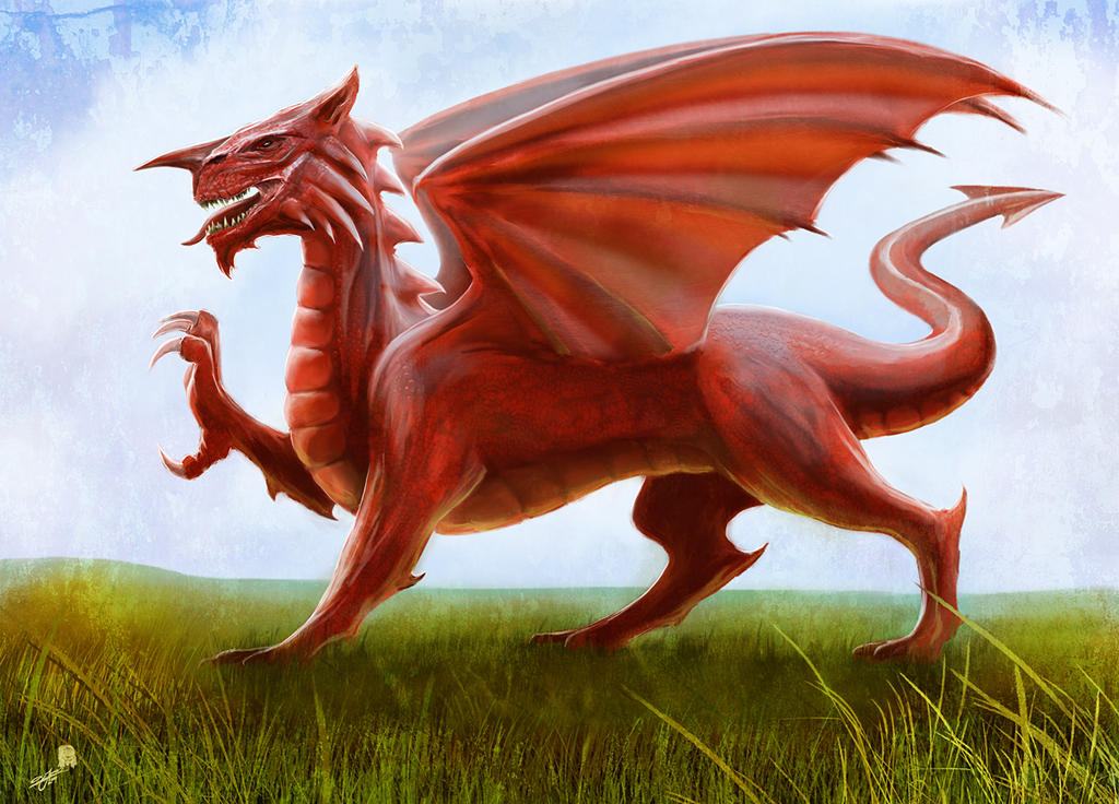welsh flag the red dragon by andyfairhurst on deviantart. Black Bedroom Furniture Sets. Home Design Ideas