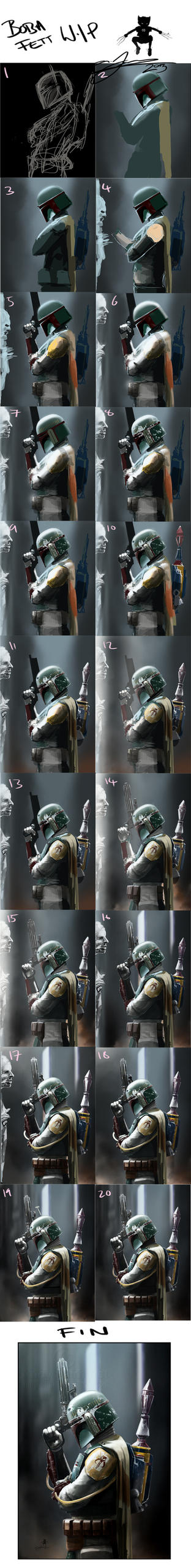 Boba Fett : Bounty Hunter W.I.P Stages by AndyFairhurst