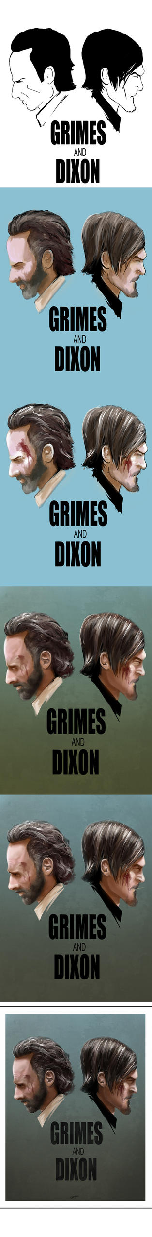Grimes And Dixon - colour version WIP by AndyFairhurst