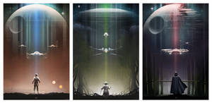 Star Wars: Luke, Yoda, Vader by AndyFairhurst