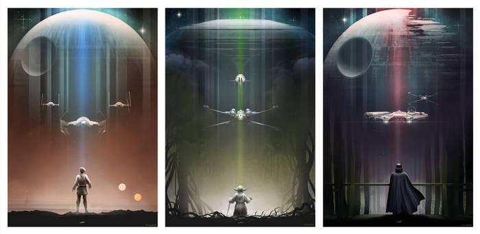 Star Wars: Luke, Yoda, Vader