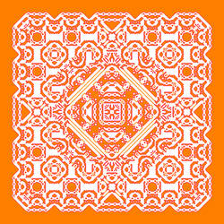 Ancient Orange Cream Cowboy Witch Emblem by MDude