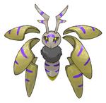 Aurumoth, Angelic Seraphim Bug-Psychic Pokemon