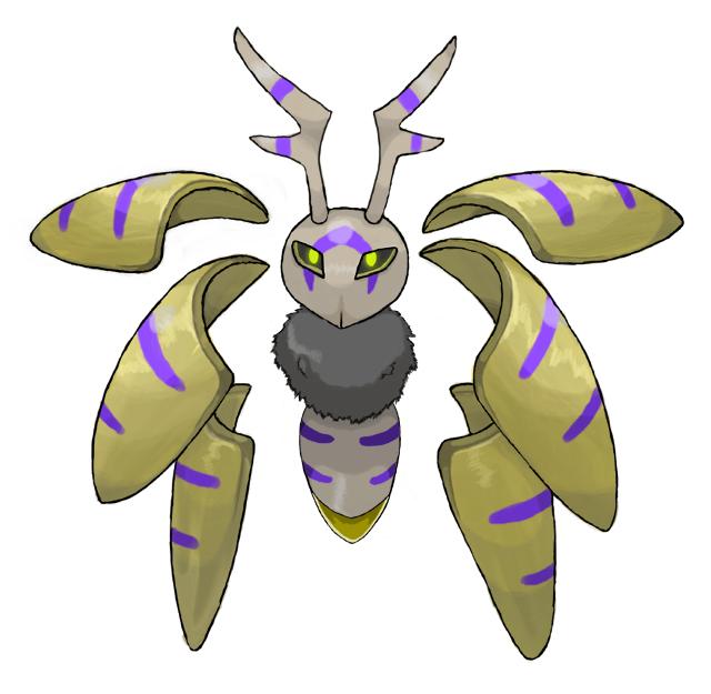 Aurumoth, Angelic Seraphim Bug-Psychic Pokemon by ...