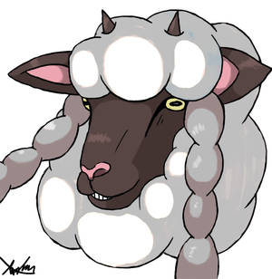 Realistic Wooloo head: Pokemon Sword and Shield