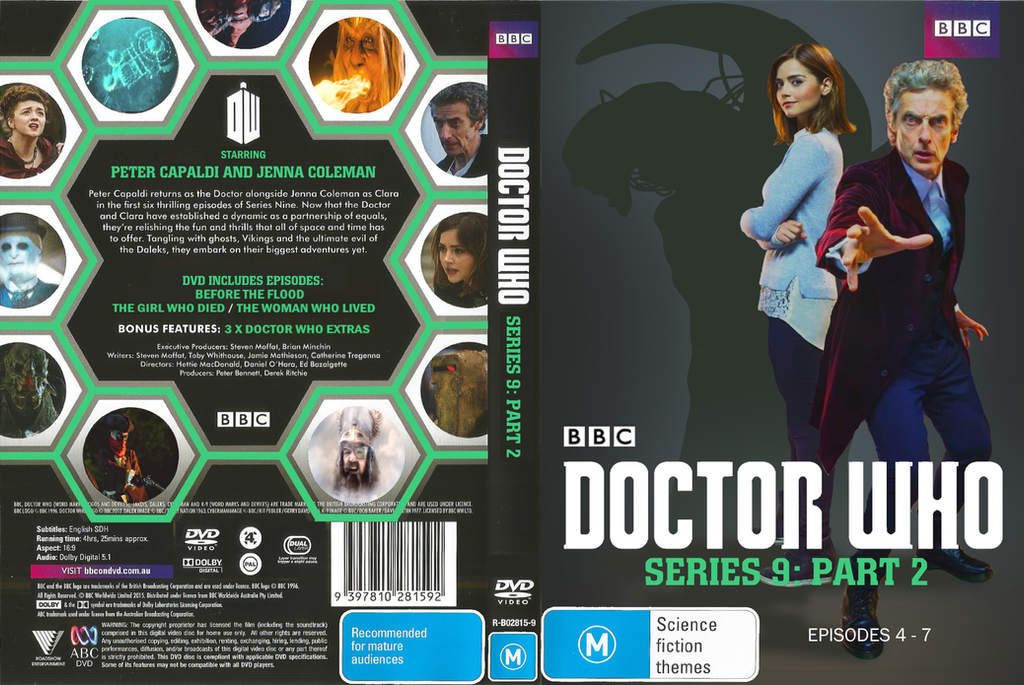 Doctor who series 9 part 2 dvd cover by jyadaha2 on deviantart
