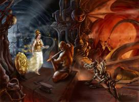 Athena in Tartarus by bvaradinov