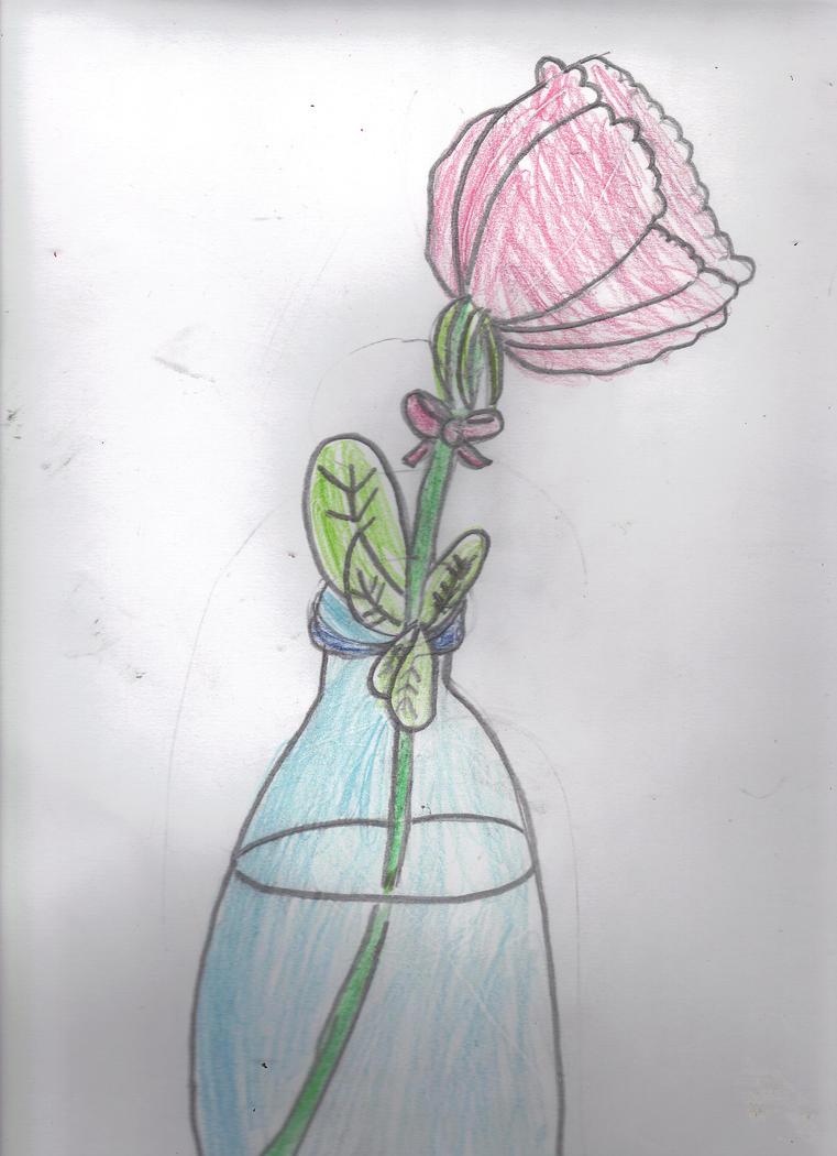 Rose in a Bottle by AkaiChounokoe