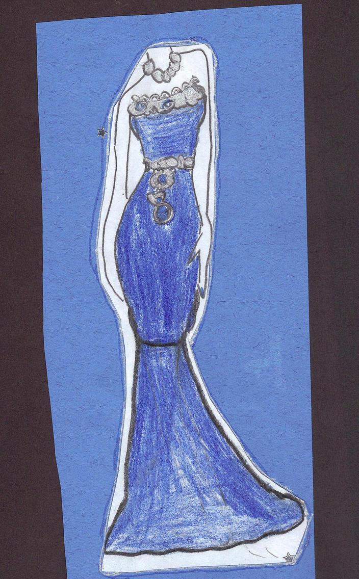 Blue Bottle Dress by AkaiChounokoe