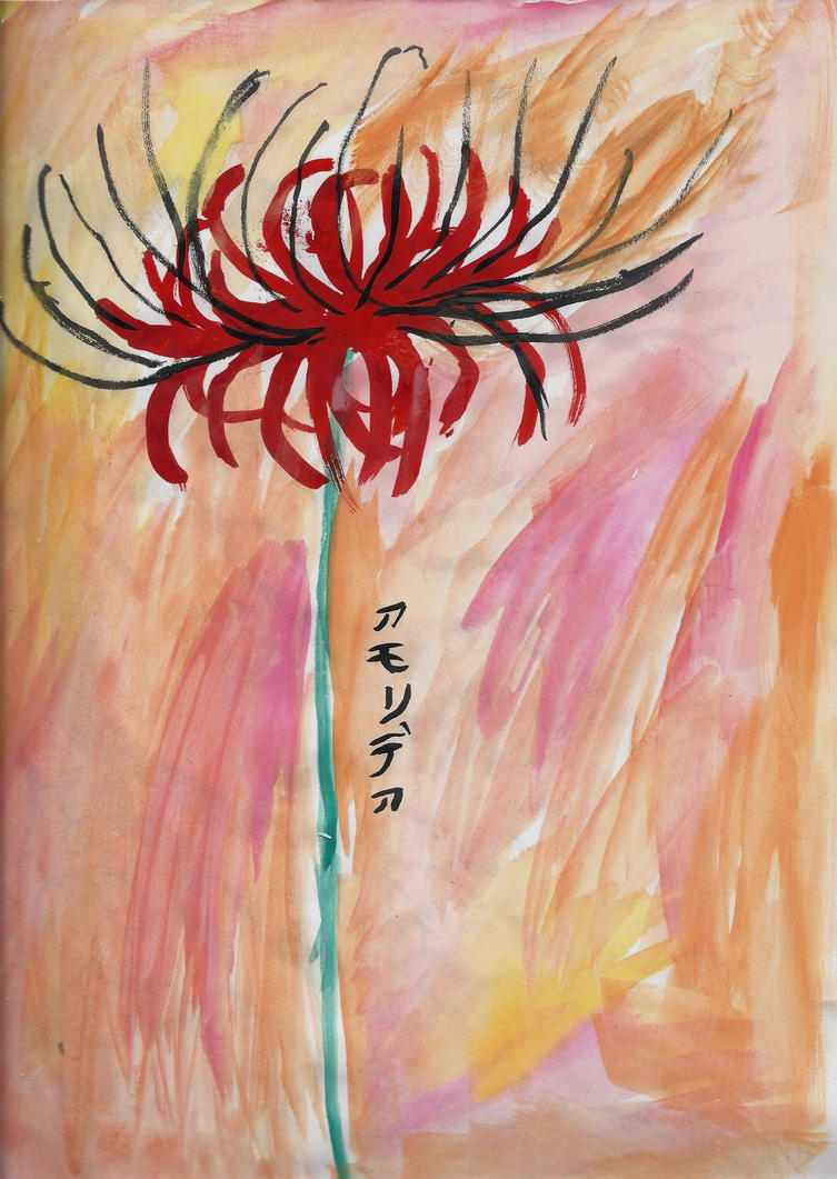 Lycoris flower at Sundown by AkaiChounokoe