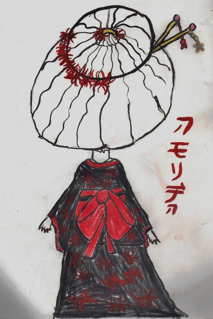 Higanbana Kimono by AkaiChounokoe