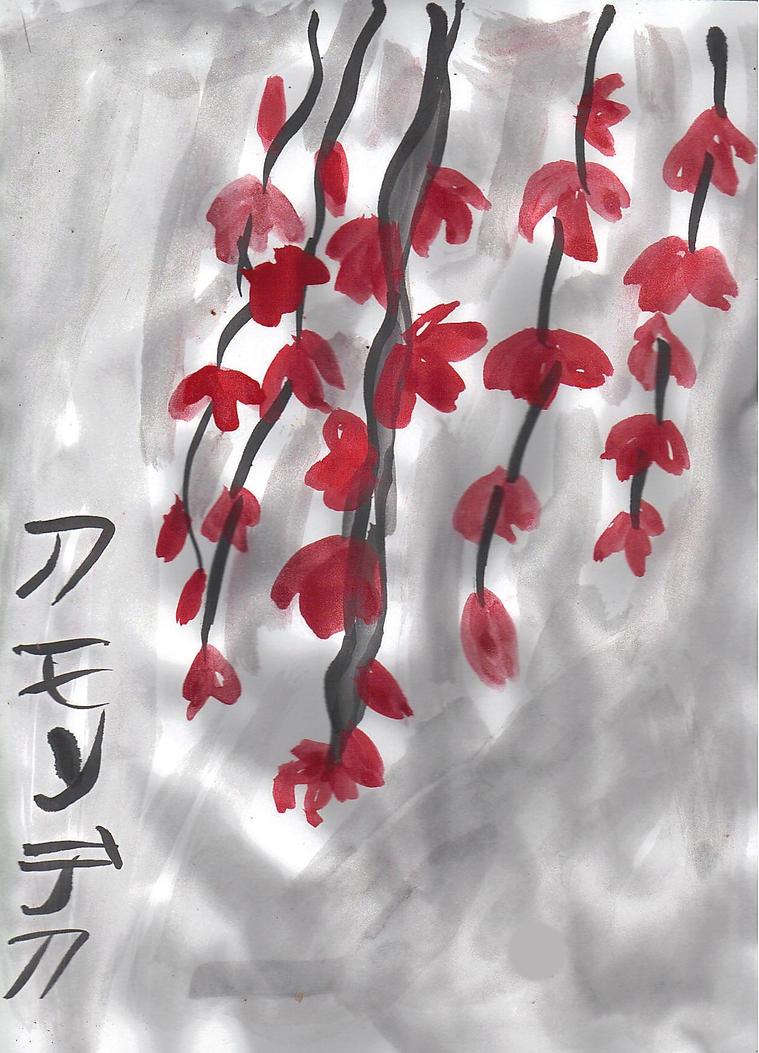 Red Leaves in the Fog by AkaiChounokoe
