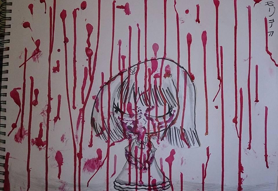 Bloodied Rain by AkaiChounokoe
