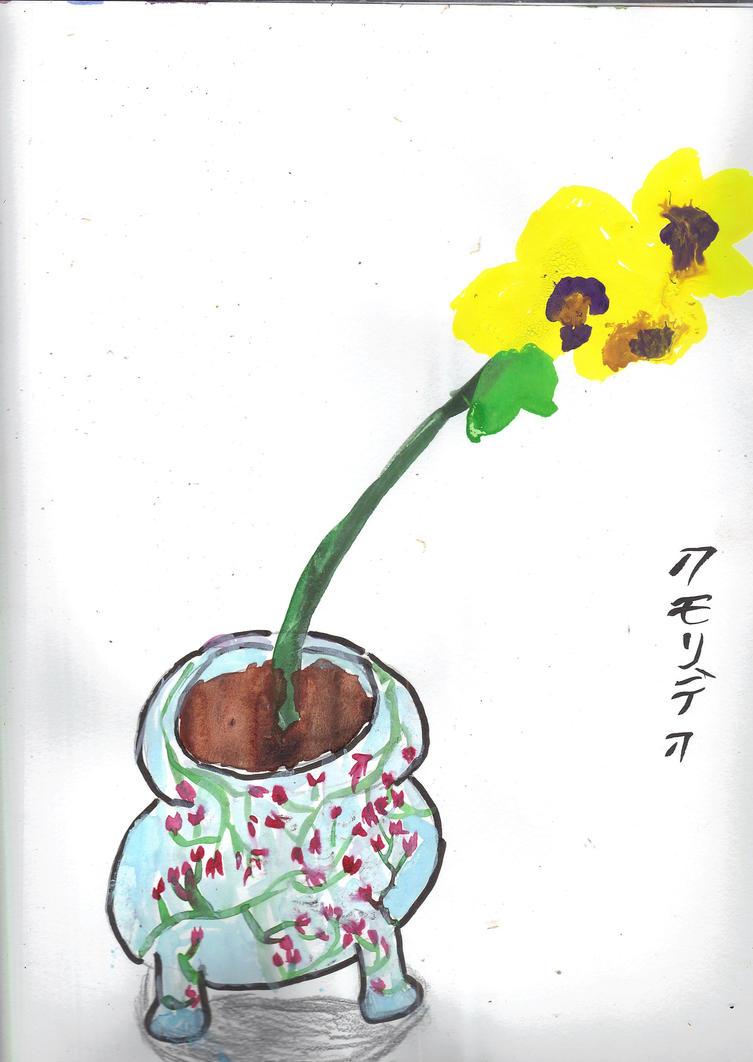 Orchid Still Life by AkaiChounokoe