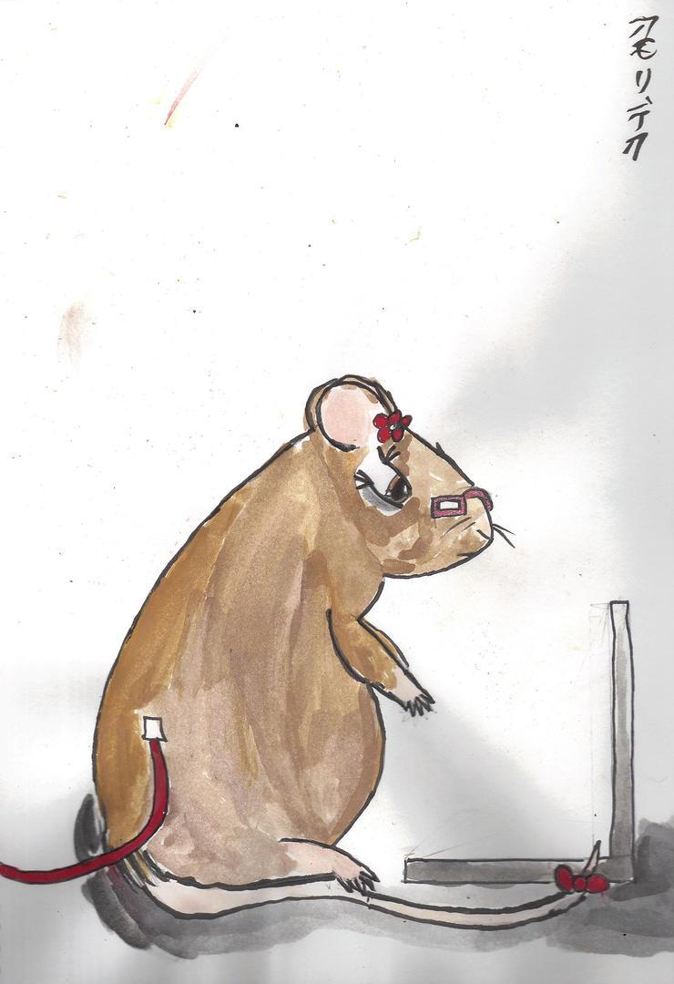 Computer Rat by AkaiChounokoe