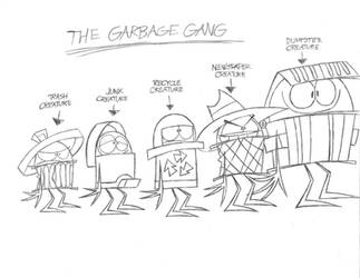 My Original Characters - The Goony Garbage Gang by Aartistboy714