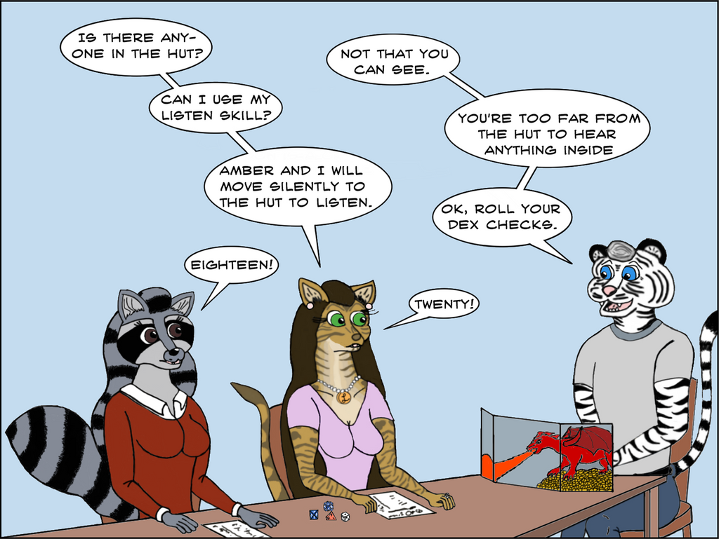 Bengal Tales - Dungeons and Dragons Part 2 by Tigershark620