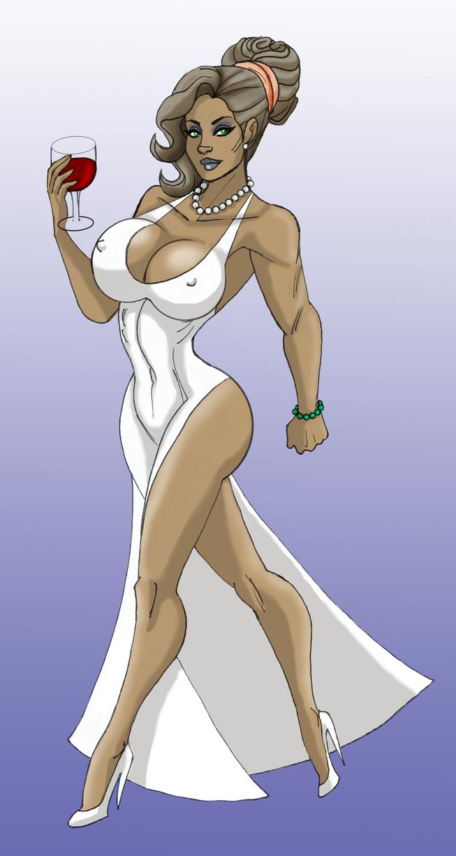 Xiomara in evening gown.  by BlackRonin72