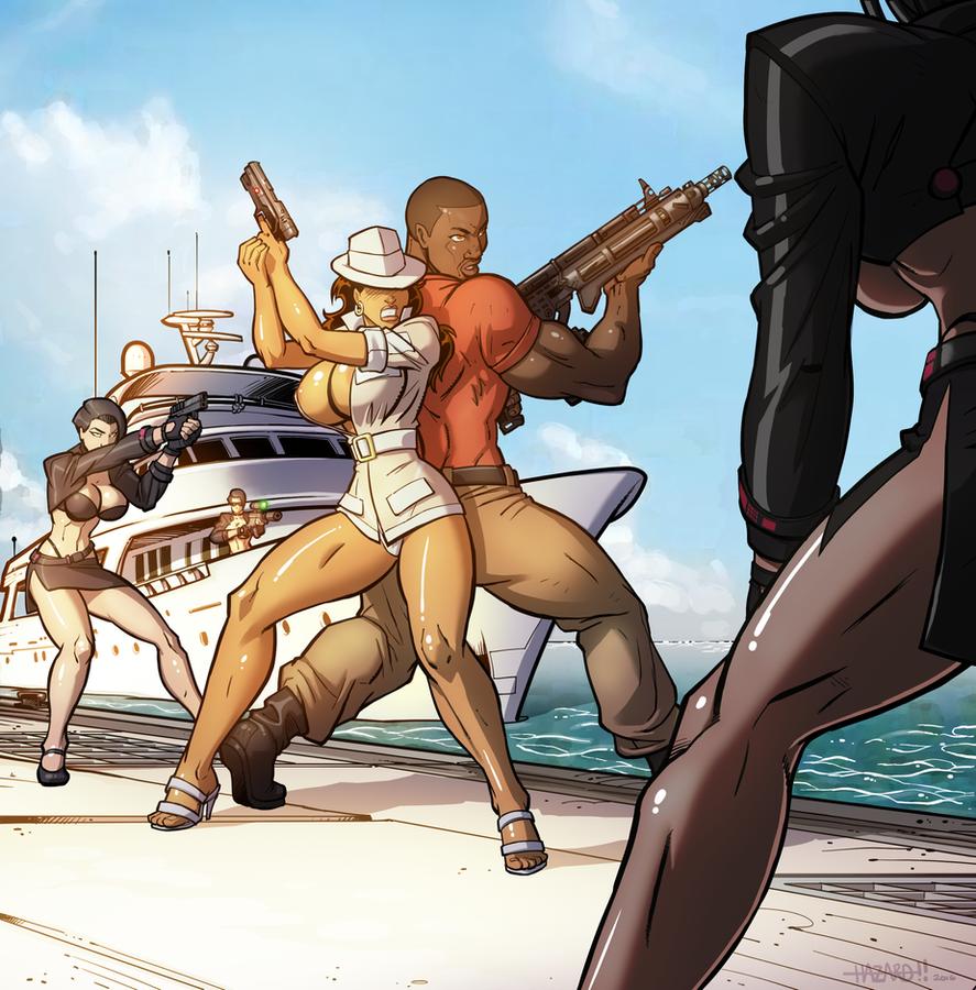 Xiomara And Solo vs Henchbabes by BlackRonin72