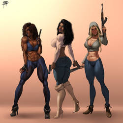 The Valkyries by Megaween  by BlackRonin72