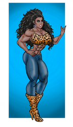 Agent X Down Temp leopard print top and boots by BlackRonin72