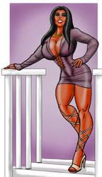 Olivia down tempo Happy Hour skirt by BlackRonin72