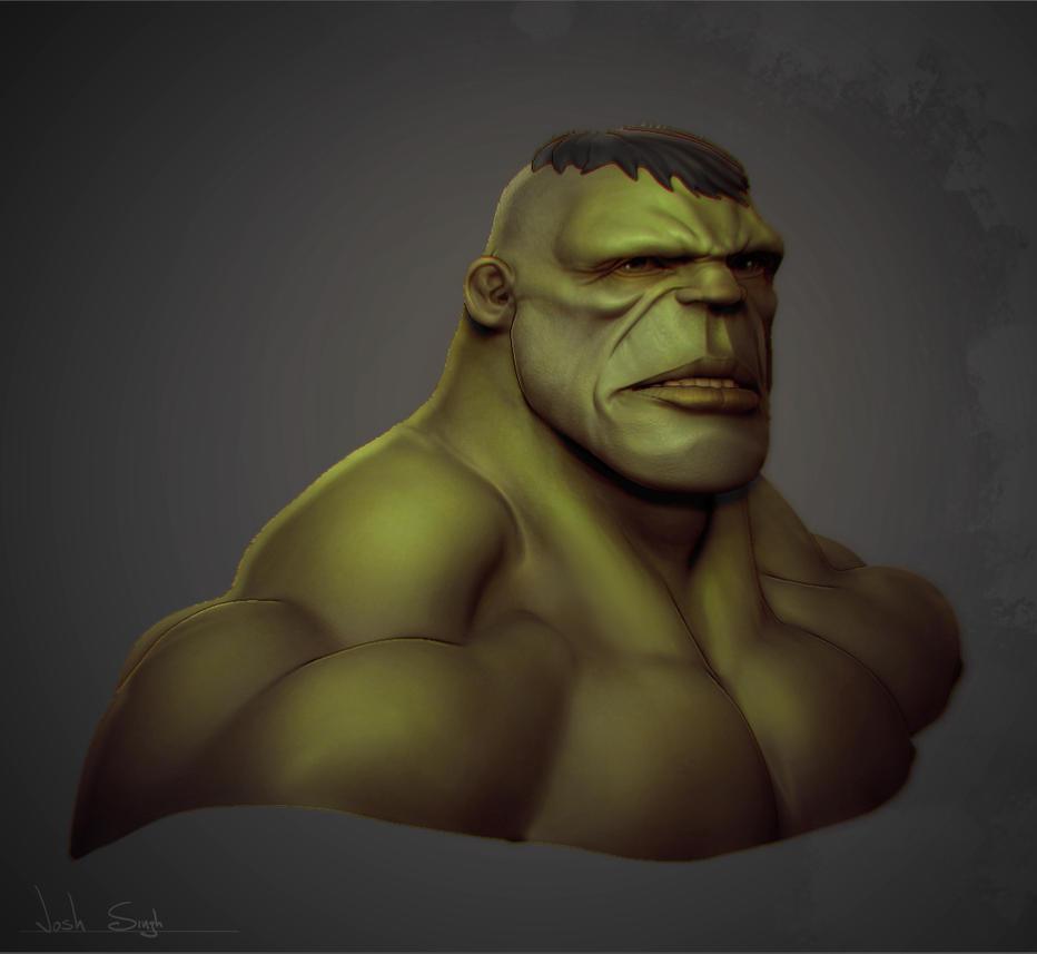 Hulk Bust by DevindraLeonis