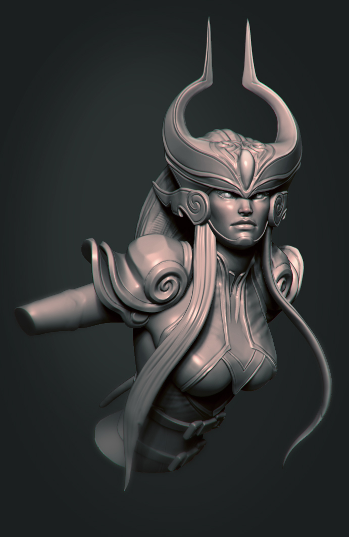 Syndra speedculpt by DevindraLeonis