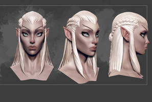 female eldarHead by DevindraLeonis