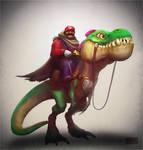 Mario and his trusty Yoshi