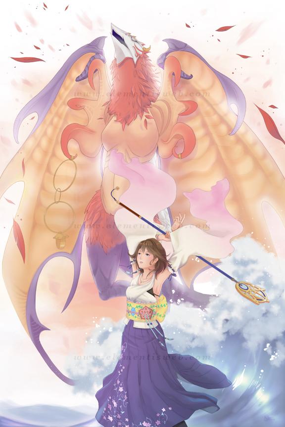 Final Fantasy X Yuna-Valefor by Elementis