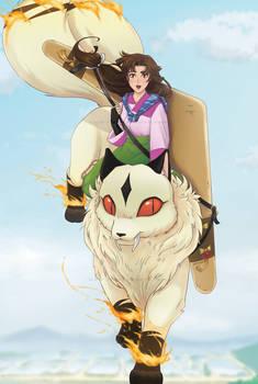 Sango and Kirara
