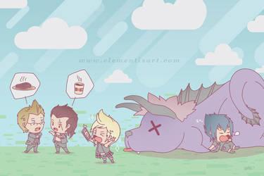 Final Fantasy XV - Behemoth hunting