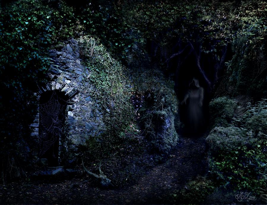 Haunted ruins by azielonko